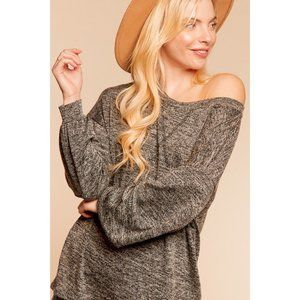 Hacci Top Pullover Bubble Sleeves